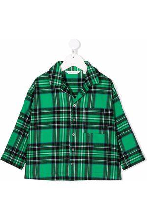 Palm Angels Kids Check-print cotton shirt