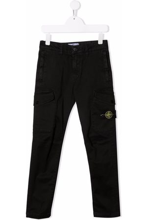 Stone Island Junior Compass-patch cargo trousers
