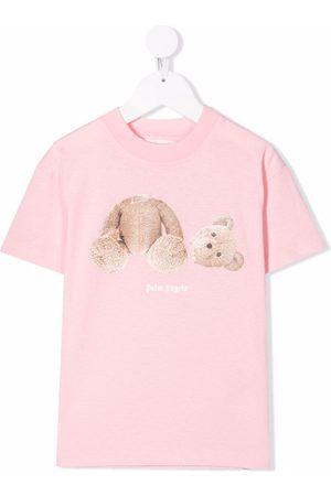 Palm Angels Kids Teddy bear-print cotton T-shirt