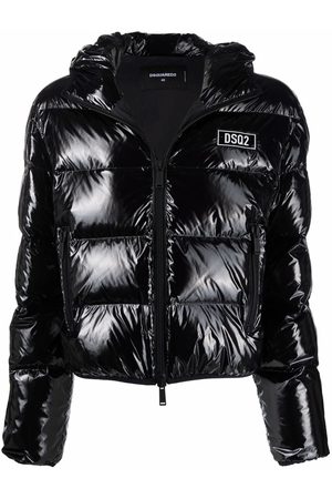 Dsquared2 Feather down logo-patch jacket