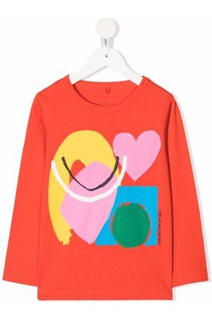 Stella McCartney Kids Paint Heart-print long-sleeve T-shirt