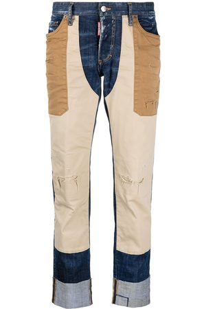 Dsquared2 Panelled distressed-effect jeans