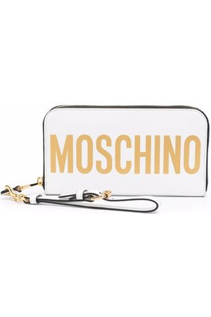 Moschino Logo-print leather wallet