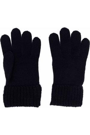 Moncler Logo patch knitted gloves