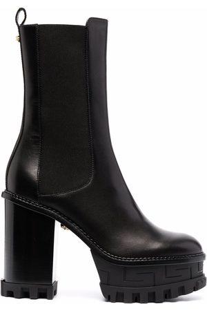 VERSACE Platform-sole block-heel boots
