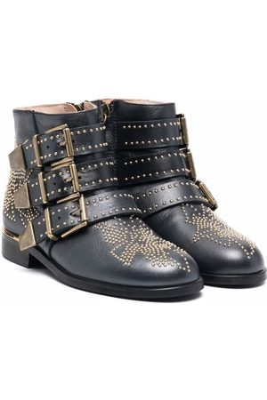 Chloé Studded side-buckle ankle boots