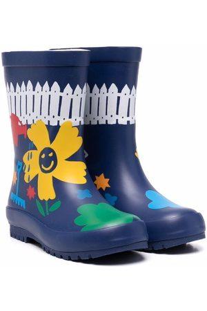 Stella McCartney Kids Floral wellington boots