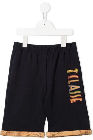 Alviero Martini Kids Boys Shorts - 1st Class map-print trim shorts