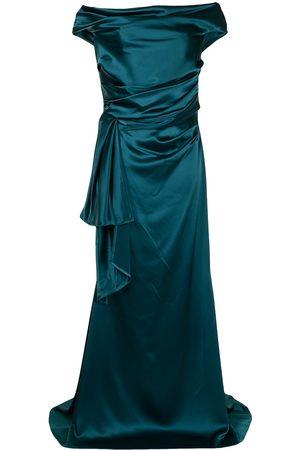 TALBOT RUNHOF Off-shoulder satin gown