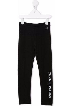 Calvin Klein Logo-print cotton leggings