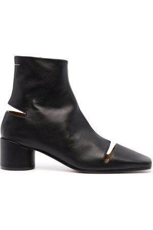 MM6 MAISON MARGIELA Cut-out square-toe ankle boots