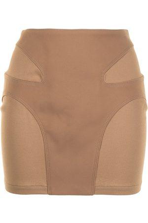 DION LEE Contour stitch mini skirt