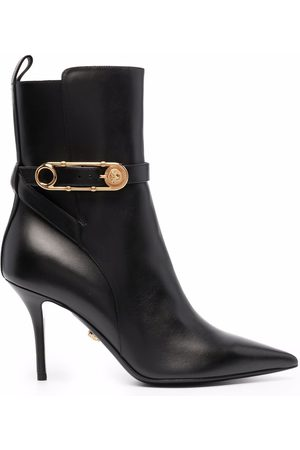 VERSACE Safety Pin 100mm ankle boots
