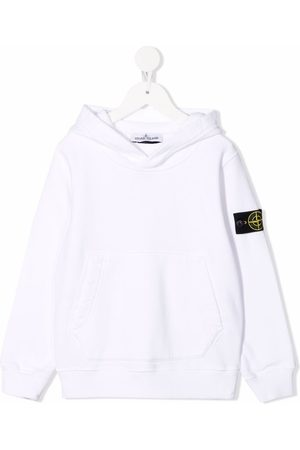 Stone Island Boys Hoodies - Logo-patch cotton hoodie