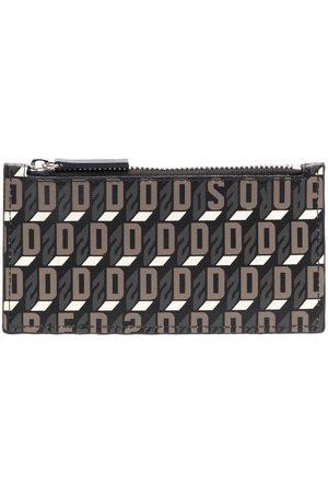 Dsquared2 Monogram-print zipped wallet
