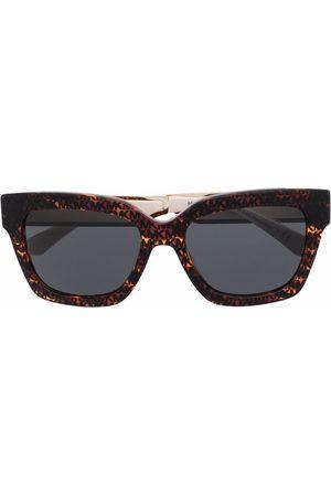 Michael Kors Tortoiseshell logo-arm sunglasses