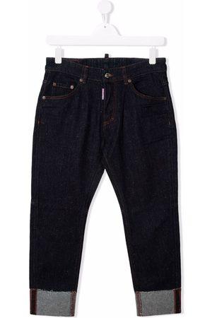 Dsquared2 TEEN logo-print skinny trousers