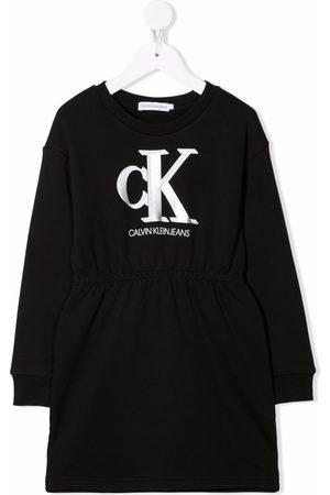Calvin Klein Logo-print cotton sweat dress