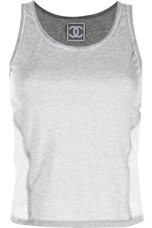 CHANEL 2004 Sports Line panelled tank top