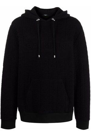 Balmain Monogram embossed hoodie