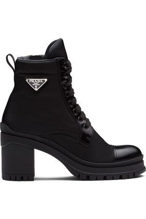 Prada Logo plaque ankle boots