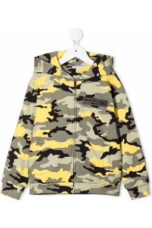 Dolce & Gabbana Camouflage-print cotton hoodie