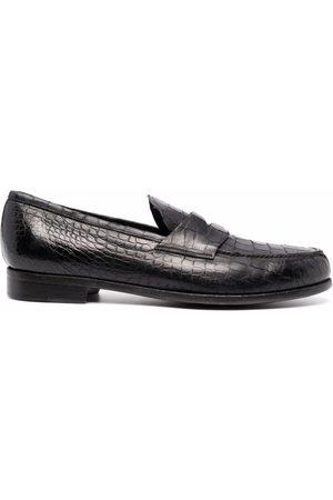LIDFORT Crocodile-embossed loafers