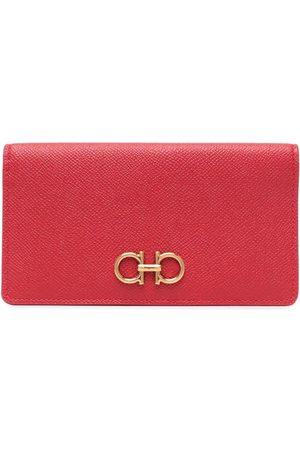Salvatore Ferragamo Gancini long leather wallet