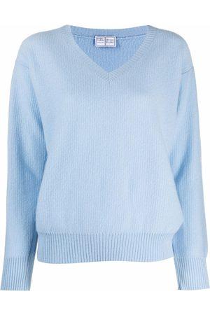 FEDELI V-neck cashmere knit jumper