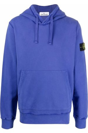 Stone Island Logo-patch pullover hoodie