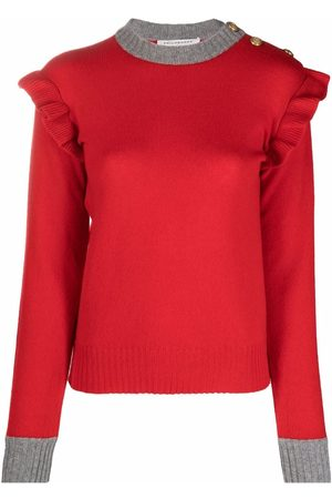 Serafini Two-tone ruffled jumper