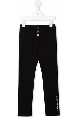 Givenchy Button-embellished leggings