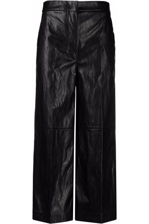 Twin-Set Leather-effect cropped trousers