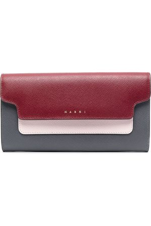 Marni Colour-block leather wallet