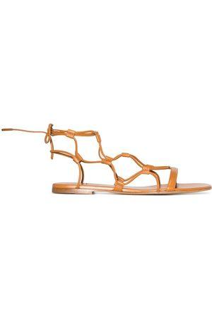 Gianvito Rossi Flat cage sandals