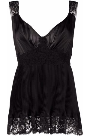 Paco Rabanne Lace embroidered flared top