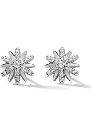 David Yurman Sterling 10mm Petite Starburst diamond earrings