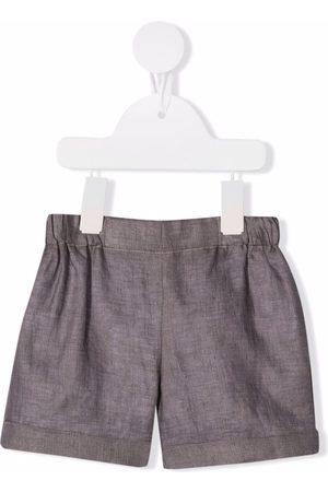 LA STUPENDERIA Woven chambray shorts