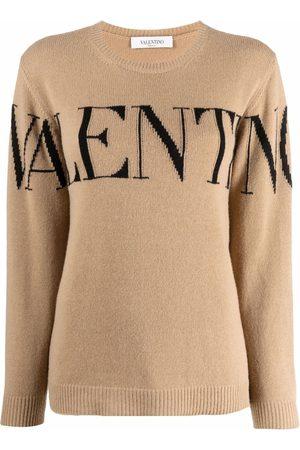 VALENTINO Logo intarsia-knit jumper
