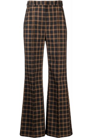 Kenzo Check flared tailored trousers