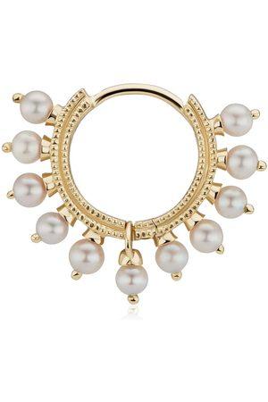 Maria Tash 18K yellow Coronet pearl hoop earring