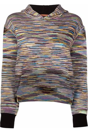 Missoni Striped-knit pullover hoodie