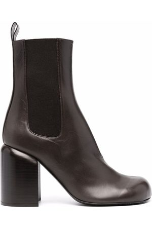 Jil Sander Leather block-heel boots