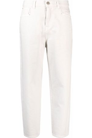 Twin-Set Straight-leg cropped jeans