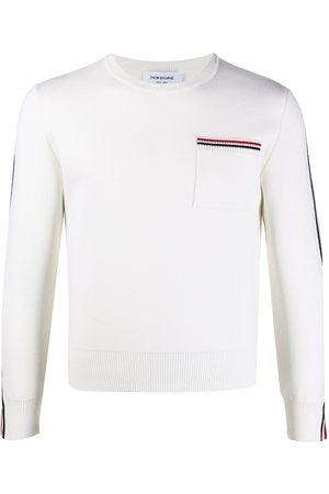 Thom Browne Men Long Sleeve - Tri-stripe long-sleeve jumper