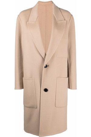 Ami Double-face single-breasted coat
