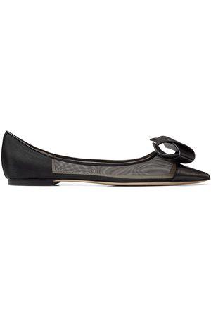 Jimmy Choo Lani flat pointed-toe ballerina shoes