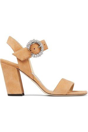 Jimmy Choo Maysa 85mm crystal-buckle sandals