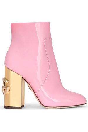 Dolce & Gabbana DG patent leather ankle boots