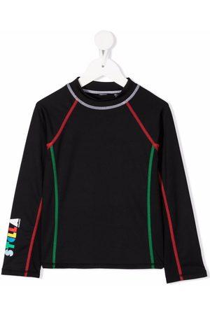 Stella McCartney Contrast-stitch long-sleeve active T-shirt
